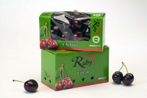 Boxjové - Caja 200g de cerezas con ventana
