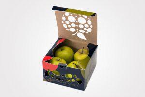 Boxjové - Caja para cuatro manzanas